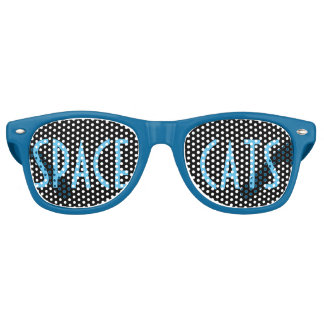 Space Cats (blue) Retro Sunglasses