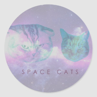 Space Cats Classic Round Sticker