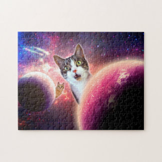 """Space Cats"" LOL 11x14 Photo Puzzle with Gift Box"