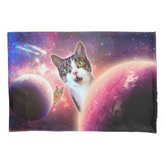 """""""Space Cats"""" LOL Funny Pillowcases Pillowcase"""