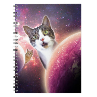 Space Cats LOL Funny Spiral Notebook