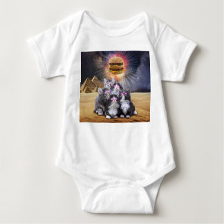 space cats looking for the burger baby bodysuit