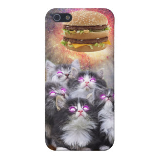 space cats looking for the burger cover for iPhone 5/5S