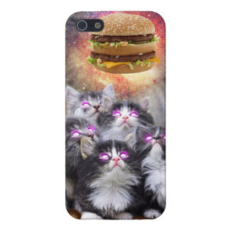 space cats looking for the burger iPhone 5 case