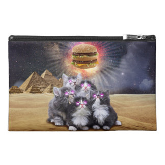 space cats looking for the burger travel accessories bag