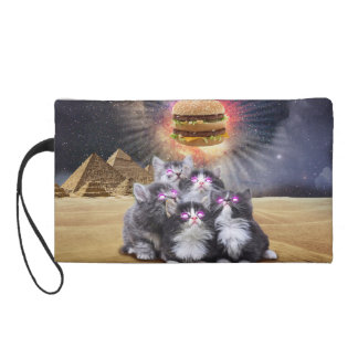 space cats looking for the burger wristlet