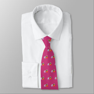 Space Cats (magenta) Tie