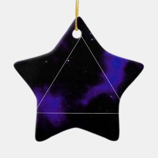 Space Ceramic Star Ornament