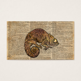 Space Chameleon Zentagle Dictionary Art Business Card