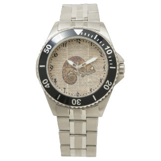 Space Chameleon Zentagle Dictionary Art Watch