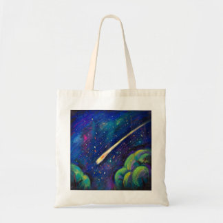 Space Comet Night Tote Bag