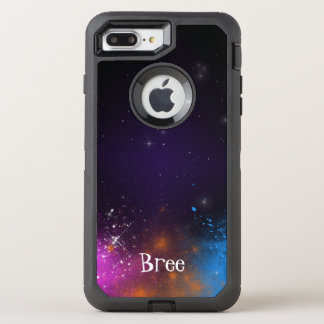 Space Cosmic Galaxy Cute Color Custom Personalized OtterBox Defender iPhone 8 Plus/7 Plus Case