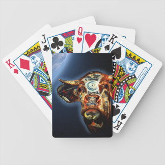 Space cow poker deck