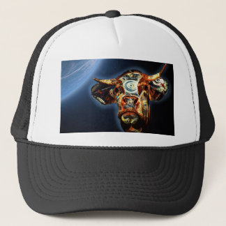 Space cow trucker hat