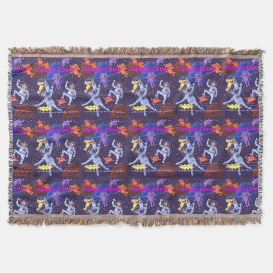 Space Cows Cover Throw Blanket