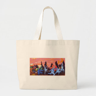 Space Cows on Mars Large Tote Bag