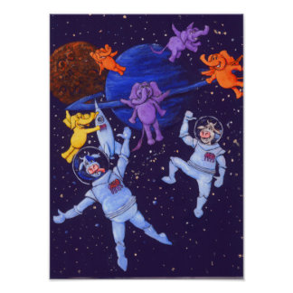Space Cows Poster