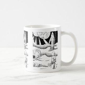 Space Crash B&W Mug