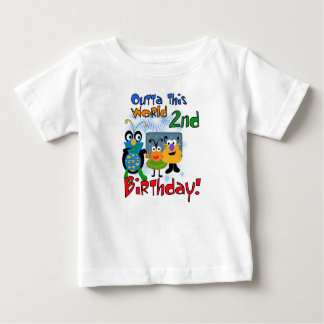 Space Creatures 2nd Birthday T-shirt