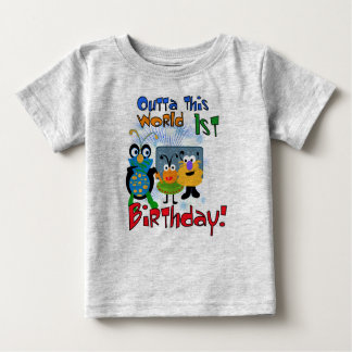 Space Creatures First Birthday Baby T-Shirt