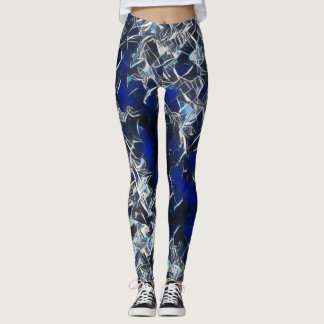 Space Crystal Rave Love Leggings