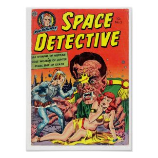 Space Detective from Golden Age Comic Art Posters