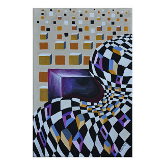 Space Diffusion Deco Art Pattern Poster