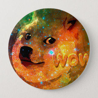 space - doge - shibe - wow doge 4 inch round button