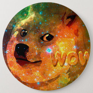 space - doge - shibe - wow doge 6 inch round button