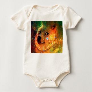 space - doge - shibe - wow doge baby bodysuit