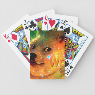 space - doge - shibe - wow doge bicycle playing cards