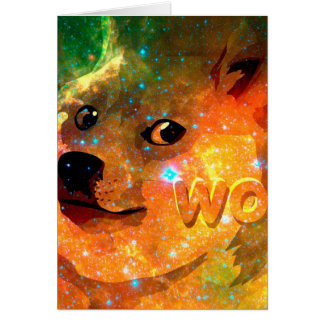 space - doge - shibe - wow doge card