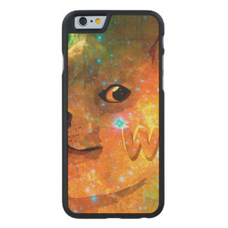 space - doge - shibe - wow doge carved maple iPhone 6 case