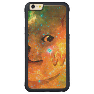 space - doge - shibe - wow doge carved maple iPhone 6 plus bumper case