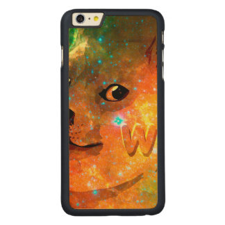 space - doge - shibe - wow doge carved maple iPhone 6 plus case