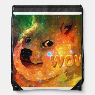space - doge - shibe - wow doge drawstring bag
