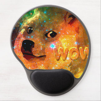space - doge - shibe - wow doge gel mouse pad