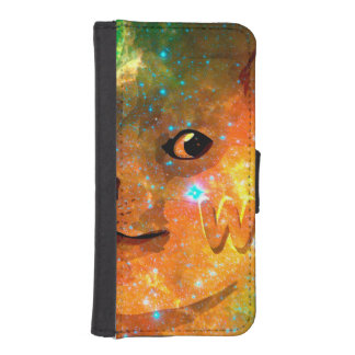 space - doge - shibe - wow doge iPhone SE/5/5s wallet case