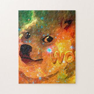 space - doge - shibe - wow doge jigsaw puzzle