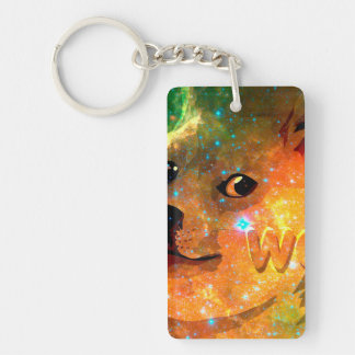 space - doge - shibe - wow doge keychain