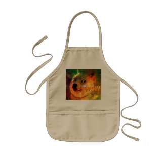 space - doge - shibe - wow doge kids apron