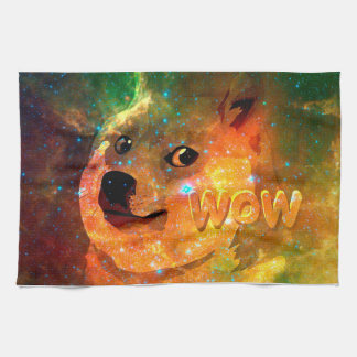 space - doge - shibe - wow doge kitchen towel