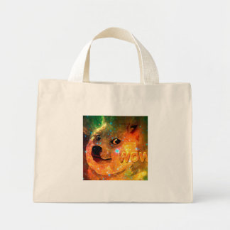 space - doge - shibe - wow doge mini tote bag