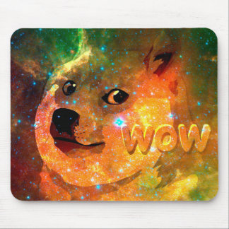 space - doge - shibe - wow doge mouse pad