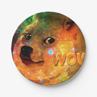 space - doge - shibe - wow doge paper plate