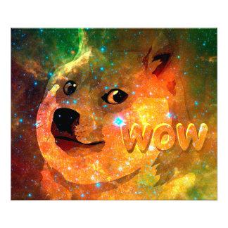 space - doge - shibe - wow doge photographic print