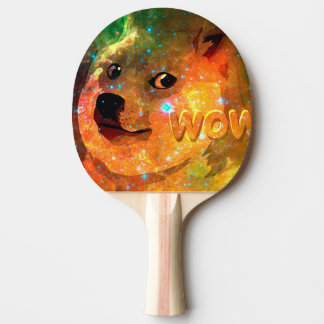 space - doge - shibe - wow doge ping pong paddle