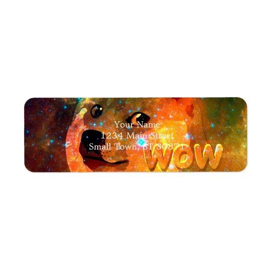 space - doge - shibe - wow doge return address label