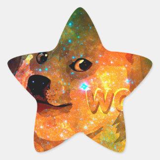 space - doge - shibe - wow doge star sticker