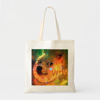 space - doge - shibe - wow doge tote bag